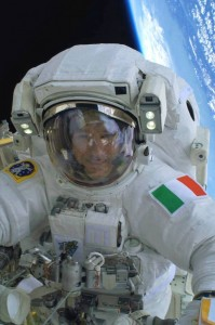 "Luca Parmitano ""goes for a walk""- Luca is Italy's first astronaut to walk in space!!!"