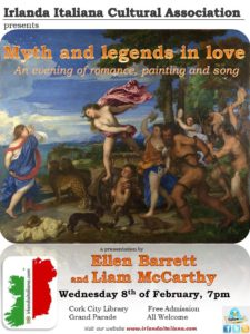 Myth and legends in love:  an evening of romance, painting and song.